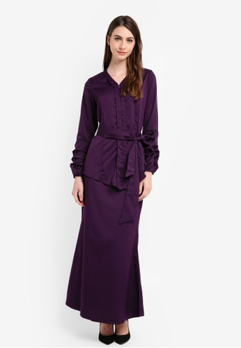 Gene Martino purple Kurung Kebaya with Belt 2525EAA2FFF24CGS_1