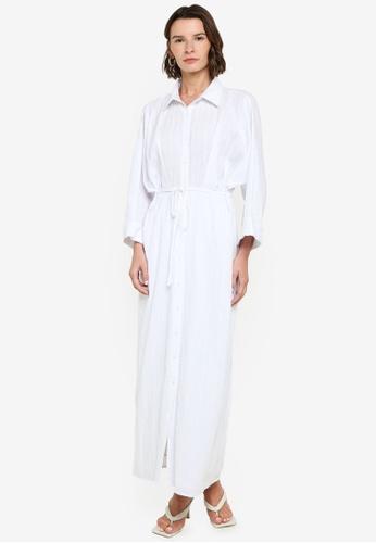 ZALIA BASICS white Batwing Shirt Dress 7F955AAD81C41FGS_1