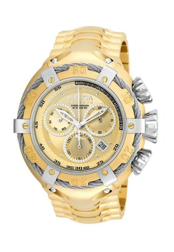 INVICTA gold Invicta Bolt Men 52mm Case Gold Stainless Steel Strap Gold Dial Quartz Watch 21345 IN968AC0F5H3SG_1