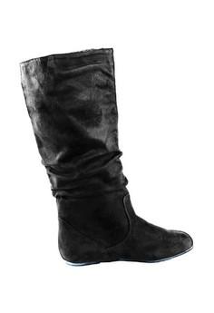 Sheyne Suede Mid-Calf High Boots