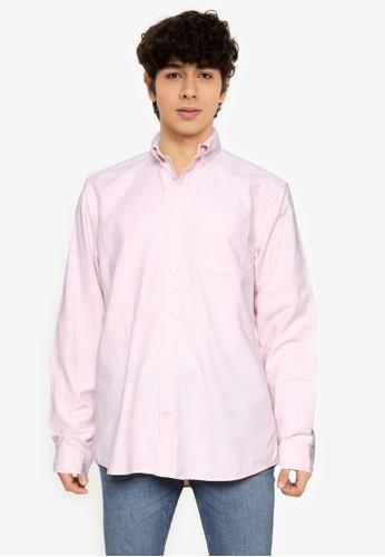 Gap pink Long Sleeve Oxford Shirt 9FA7EAA4A430CBGS_1