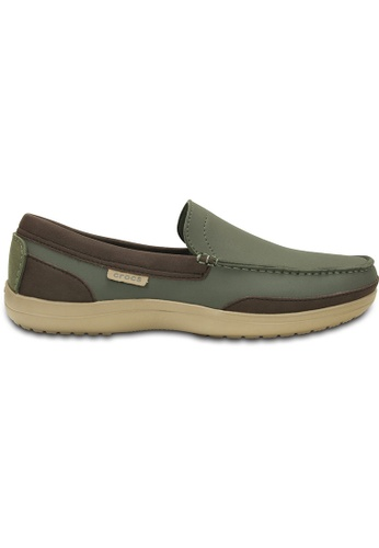 Crocs green Men's Wrap ColorLite™ Loafer Dark Olive/Tumbleweed CR883SH58WFXMY_1