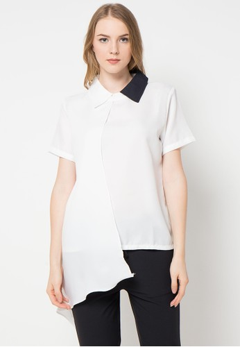 Magnificents Ladies white Slayer Short Sleeve Blouse MA179AA62AMBID_1