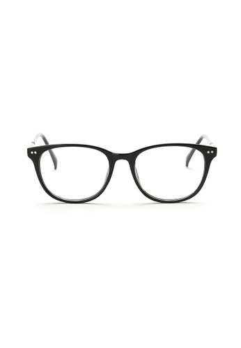 Kyfer's Eyewear & Essentials black and silver Horn Rim Eyewear II KY376AC78ZWNSG_1