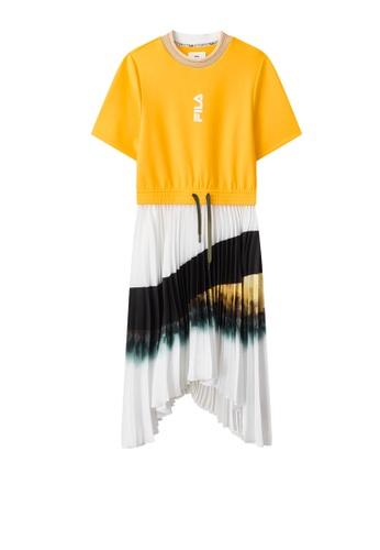 FILA yellow FILA x 3.1 Phillip Lim Gradient Color Asymmetry Hem Dress 13D29AA8F8B4BFGS_1