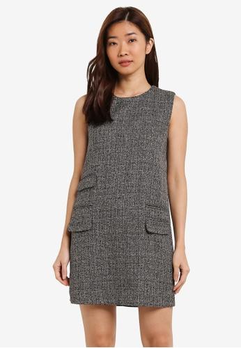 ZALORA grey Pocket Detail Shift Dress AA72DAA469052BGS_1