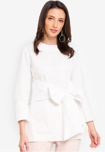 Zalia white Tie Front Tunic FEB8FAA8DD0D4CGS_1