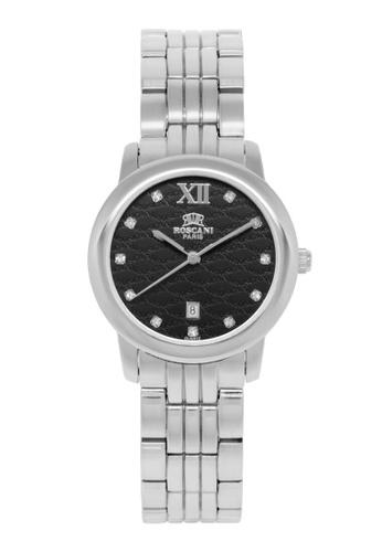 Roscani silver Roscani Grace B73 (Curved Crystal + Platinum Plating) Platinum Black Bracelet Women Watch DAAA4AC3951478GS_1