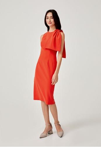 Love, Bonito orange Karissa Midi Pencil Dress 03C40AA3205321GS_1