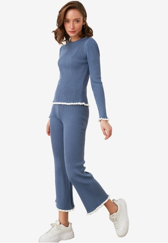 Trendyol blue Sweater Top-Bottom Suit 61066AA358BC60GS_1