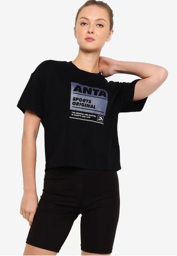 Anta black Original Short Sleeve Tee 52803AAD8C5878GS_1