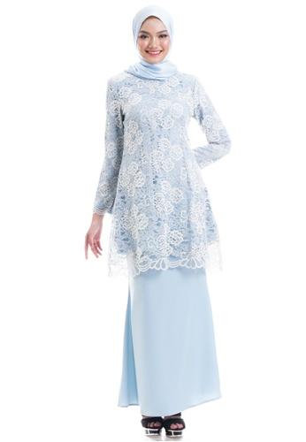 Ashura blue Shehla Kurung Modern C227FAA746E4B1GS_1