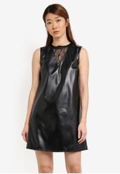 Something Borrowed black Lace Panel Sleeveless Shift Dress 5CF5BAA2D1A28EGS_1