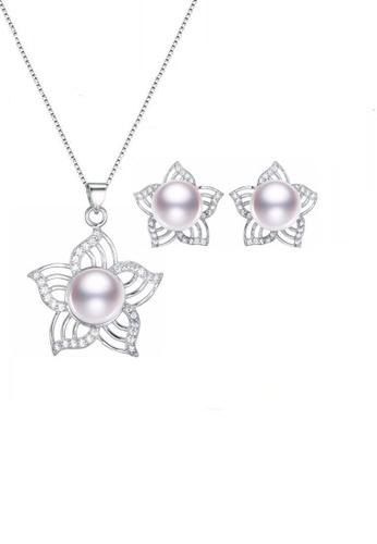 ADORA white Silver Pearl Flower Set BFD08ACA998E24GS_1
