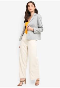 39e136b630831 Miss Selfridge Grey Clean Ponte Blazer HK  400.00. Sizes 6 8 10 12 14