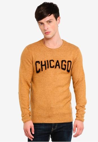 Jack & Jones 褐色 羊毛混合物針織套頭上衣 A5821AAF59611DGS_1