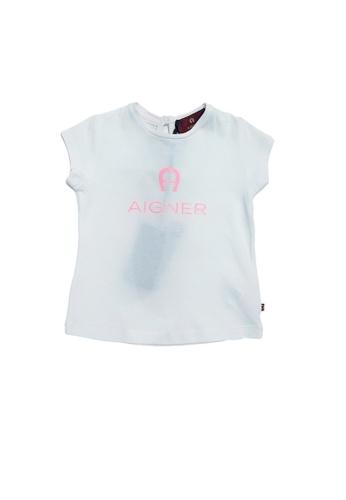 AIGNER KIDS white AIGNER BABY GIRLS LOGO T-SHIRT EB532KA20B34D9GS_1