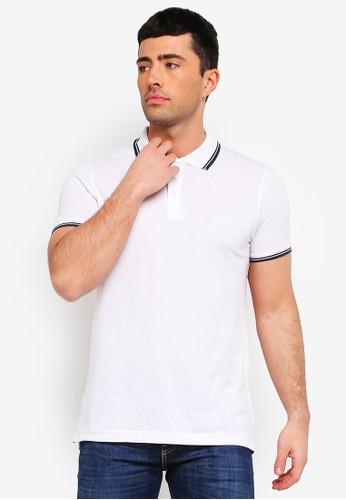 Brave Soul white Button Down Polo Shirt 9A838AADCB6983GS_1