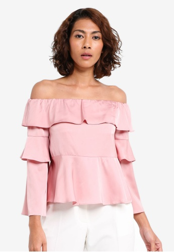 6986ffb7141e5 Buy Preen   Proper Off Shoulder Bell Sleeve Peplum Top