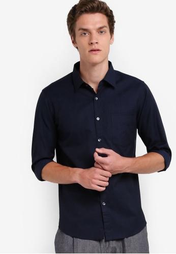 SPARROW GREEN navy Scott Shirt SP065AA78XPPMY_1