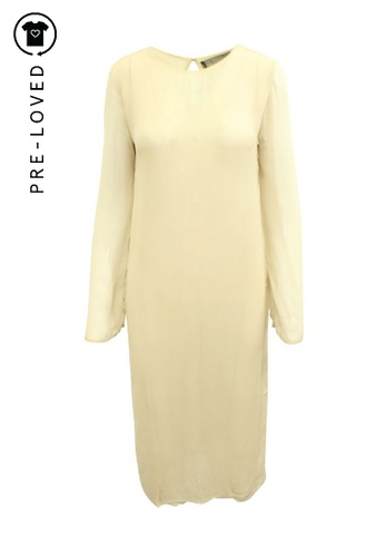 Reformation beige Pre-Loved reformation Nude Lightweight Oversized Dress B94A3AAEFF997EGS_1