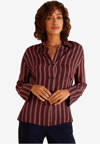 Mango brown Stripe Shirt 2B8CFAA1F59577GS_1