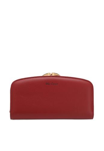 Wild Channel red Women's Bi Fold Long Purse 04057ACE380E82GS_1