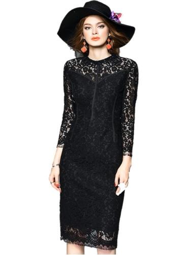 Sunnydaysweety black Elegant Lace One-piece Dress UA1109030BK 2556AAA27C902CGS_1
