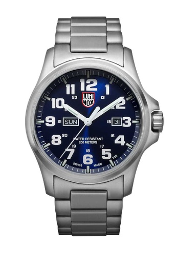 Luminox blue Luminox Atacama Field Day Date Blue and Silver Stainless Steel Watch 45129ACD9514F7GS_1
