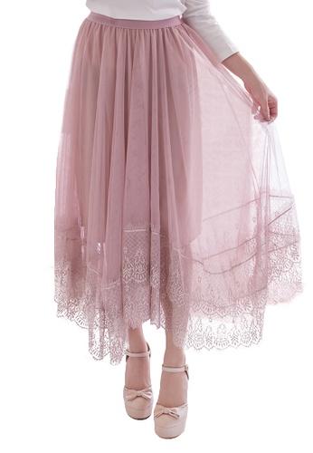 d546a1054a42 Buy Ruby's Collection Elastic Waist Tulle Midi Skirt | ZALORA HK