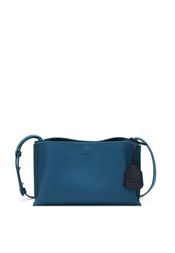 Rabeanco blue RABEANCO DAE Small Crossbody - Saffiano Denim Blue 9478DAC87A7E10GS_1