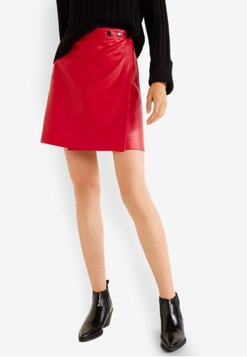 Mango red Wrap Mini Skirt 24DFDAAD53D5C2GS_1