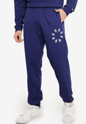 ADIDAS blue adicolor shattered trefoil sweat pants 61BE4AA4FF4700GS_1