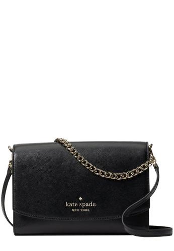 Kate Spade black Kate Spade Carson Convertible Crossbody Bag in Black D40F6ACD8693F2GS_1