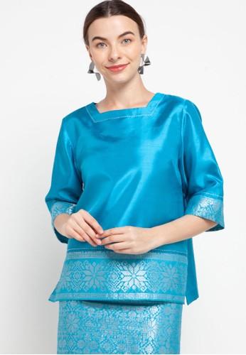 Kisoon Harto blue Blouse Shantung E4B52AA4CEC515GS_1