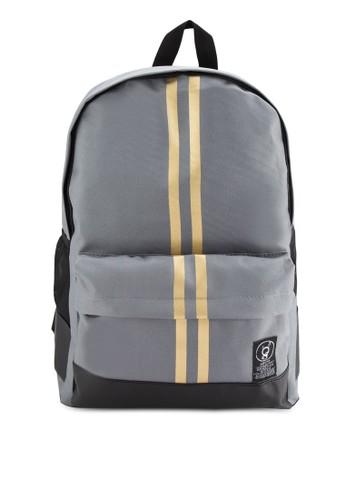 Rotesprit sghel 時尚雙條紋後背包, 包, 後背包