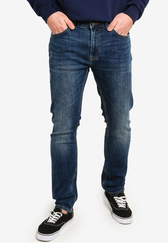 b11e803f Lee blue 709 Luke Slim Low Rise Tapered Jeans - Marvel 74720AA34DD509GS_1