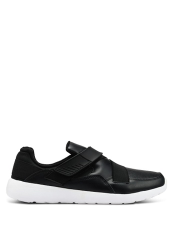 Brave Soul black Perforated Trainers 81040SHD75F2AEGS_1