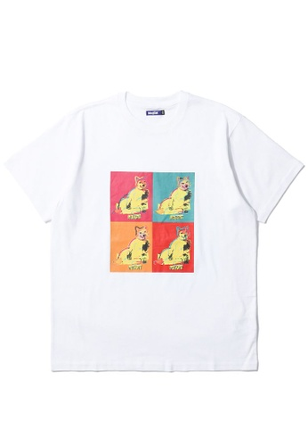 BLOCKAIT white Akita Ken Pop Art tee 5C3EBAA89230FFGS_1