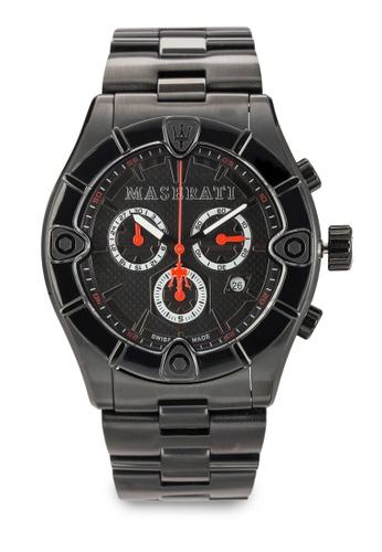 Maserati black Meccanica Men's Chronograph Bracelet Watch R8873611001 MA410AC12UYDMY_1