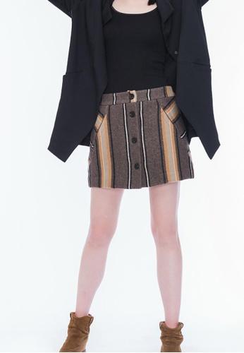 Alpha Style multi Dalia Wool Mini A-line Skirt AL461AA0GF9SSG_1