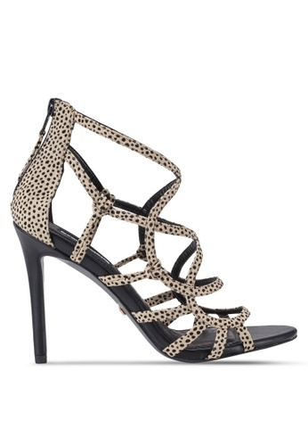 TOPSHOP multi Racket Caged Heeled Sandals TO412SH83FNGMY_1