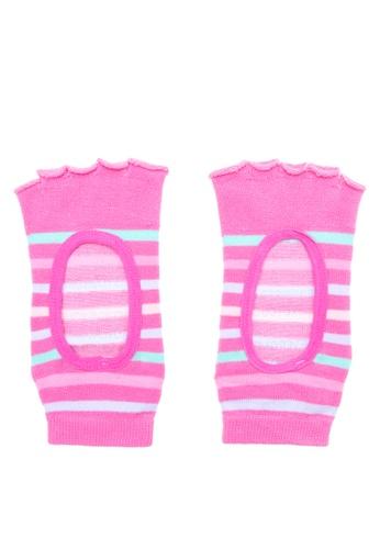 Goldtoe pink Powersox Ladies Half Toe Socks Stripes with Window GO028AA80PCHPH_1