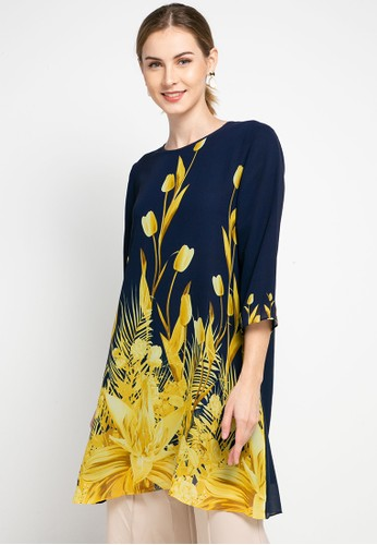 Brilliant Girl multi Chiffon Floral Printed Tunic 856C5AAF09A812GS_1