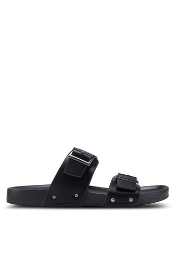 Bata 黑色 Slide-On Flip Flops 3AB44SH0CFC078GS_1