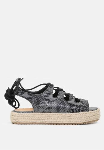 London Rag 灰色 系带凉鞋 9EEBCSH3B2378AGS_1