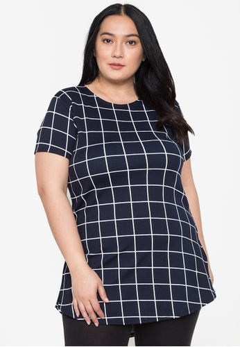 Timeless Manila blue Meg Long Tee/Dress (Chekered) 3E057AA8FF435FGS_1