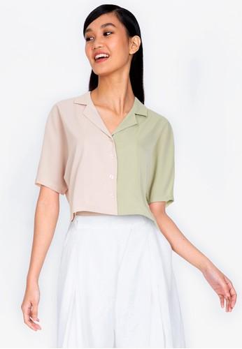 ZALORA BASICS multi Colourblock Shirt 300B2AABF34840GS_1