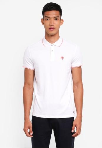 ESPRIT white Short Sleeve Polo Shirt 7208FAA08260F7GS_1
