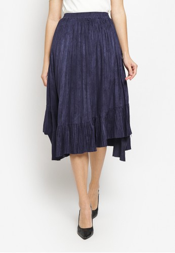 Just Out blue and navy Portia Plisket Skirt 57287AA57B57CCGS_1